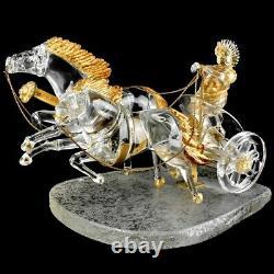 Pino Signoretto, Italy (born 1944) Seguso Murano Hand Blown Art Glass Chariot