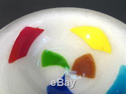 RARE 1950s DINO MARTENS TOSO Murano Italian Art Glass PULEGOSO Color Patch Bowl