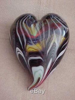 RARE Murano Italian Glass Art Heart paperweight Venice Italy mint vintage