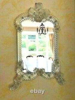 REDUCED STUNNING LARGE 49 cm Vintage Venetian Murano gold dust Glass wall Mirror