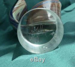 Rare 12 TAGLIAPIETRA lovers figurine CHALCEDONY GLASS MURANO SIGNED collector