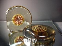 Rare Galliano Ferro Art Glass Pin Wheel Bookends Murano