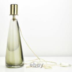 Rare Massive 1950s Art Glass Table Lamp Base by Venini Signed