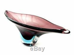 Rare Mid Century Murano Flavio Poli Seguso Vetri D'Arte Art Glass Freeform Bowl