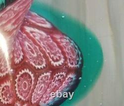Rare Murano Art Glass Millefiori Hand Blown Newel Post Paperweight UNIQUE OOAK