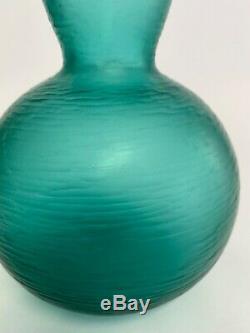 Rare Murano Glass Carlo Scarpa Battuto Velato Vase Venini