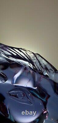 Rare Murano Signed Licio Zanetti Alexandrite Neodymium Glass Horse Head Figurine