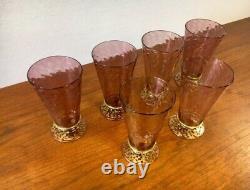 Rare Salviati Italy Art Deco Murano Glasses Tumblers Hand Blown 1920s