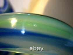 Rare Sommerso Murano Millefiori Hand Blown Art Glass Swan Bowl Centerpiece Italy