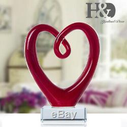 Ribbon Art Glass Blown Sculpture Centerpiece Party Home Decor Gift Murano Style