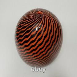 Rick Strini Hand Blown Glass Art Vase 1/1 Chihuly Murano Mid Century Modern