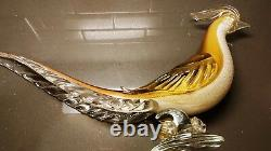 Salviati & Co Hand Blown Glass Pheasants ($2,495 valued) Murano Gold Pair