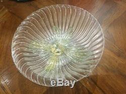 Salviati Venetian Murano Glass Gold Flecks Finger Desert Bowls Set of 6 (RARE)
