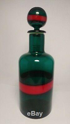 Scarce Fulvio Bianconi Venini Glass FASCE ORIZZONTALLI Decanter Bottle MURANO