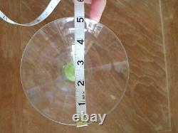 Seven 1960's Murano Artisan Grasshopper Green Ball Hand Blown Martini Glasses