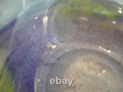 Signed Murano Hand Blown Art Glass Centerpiece Bowl