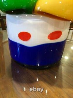 Simone Cenedese Hand-Blown Italian Murano Signed Art Glass Ice Cream Bowl
