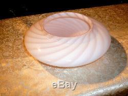 Splendid MCM Murano Pink Swirl Mushroom Glass Lamp Shade Globe by Venini Vetri