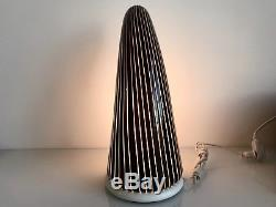 Tall Rare MID Century Res Murano Italy Hand Blown Glass Table Lamp Venini