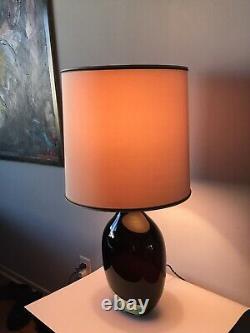 VINTAGE SEGUSO MURANO GLASS TABLE LAMP -SIGNED- ITALIAN BAROVIER TOSO MODERN 50s