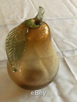 Venetian Glass Fruit Hand Blown In Murano