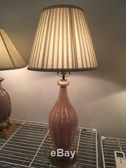 Venetian Glass Lamp lovely quality & hand blown in Murano. Very hard to find