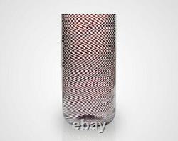 Venini Carlo Scarpa Purple Thread Mezza Filigrana Glass Vase 1980s Signed