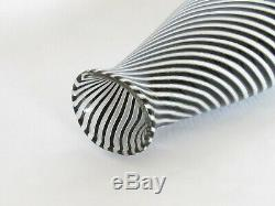 Venini Era Dino Martens Murano Glass Black and White Vases a Pair
