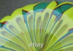 Venini James Carpenter Filigrana Murano Art Glass Calabash Vase Italy Signed'92