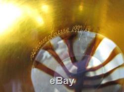 Venini Murano Art Glass Disc laura de santilliana QUATTRO STAGIONI 4 Seasons 14