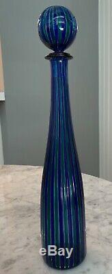 Venini Murano Glass Bottle/decanter Perfect Condition