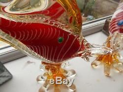 Very Impressive & Heavy Pair of Large Murano Glass Fish