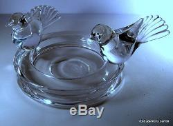 Vetri Murano Glass Bowl with Birds Signed Renato Anatra