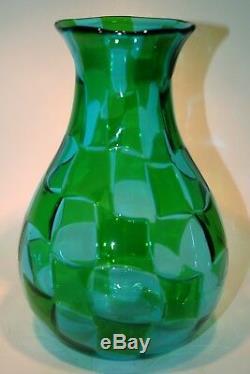 Vetro di Murano glass firmato handblown tessere vase vaso signed Davide Toso