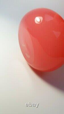 Vintage 1960s Archimede Seguso Opalescent Pink Opal Glass Art Pear Figurine