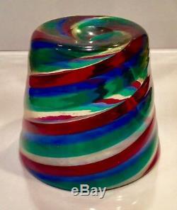 Vintage 50's FULVIO BIANCONI VENINI FASCE Ritorte Spiral Striped tumbler