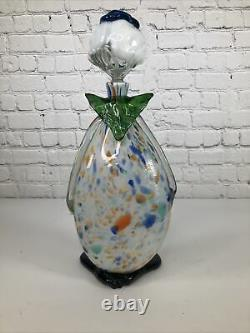Vintage Collectible MURANO ART GLASS Hand Blown Clown Decanter/Bottle Italy