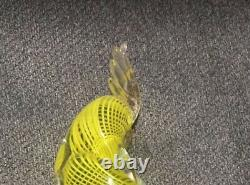 Vintage Hand Blown Murano Italian Ribbon Glass Parrot Stripped Design 12 Tall
