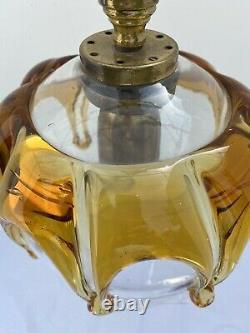 Vintage Italian Murano Amber Glass Ceiling Pendant Light Shade