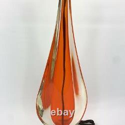 Vintage MCM Murano Teardrop Glass Accent Lamp Mid Century Modern Italy Handblown