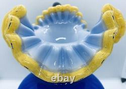 Vintage MERY BOMBONIERE for CHIANTESE Hand Blown Murano Art Glass Pitcher Vase