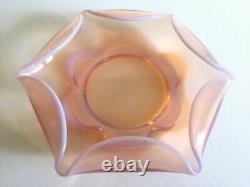 Vintage MID Century Modernist Blush Light Pink Hand Blown Murano Art Glass Bowl
