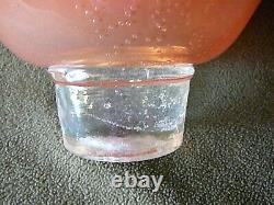 Vintage MURANO Glass Bowl Large Hand Blown Art Glass Centerpiece Swirled Ruffled