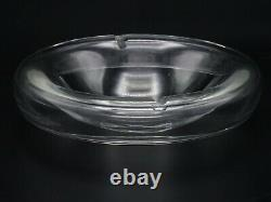 Vintage Murano Alfredo Barbini Italian Clear Art Glass Floating Bowl Ashtray