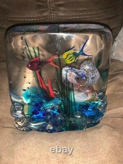 Vintage Murano Blown Glass Fish Aquarium Extremely Rare