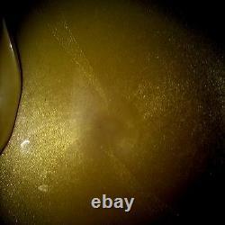 Vintage Murano Dish Bowl 1950's Gold Flecks Large Hand Blown SALE