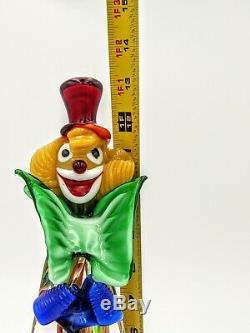 Vintage Murano Glass Clown Figurine Excellent Condition Hand Blown Original 13