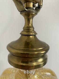 Vintage Murano Gold Fleck Glass Table Lamp