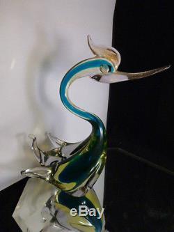 Vintage Murano Hand Blown Glass Italy Italian Duck Bird. GREAT COLORS OVER 50