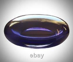 Vintage Murano Seguso 7 Sommerso Bowl Hand Blown Purple to Clear